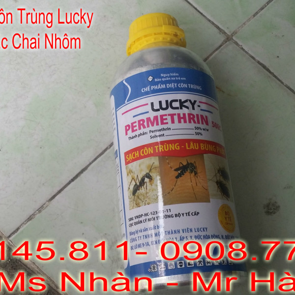 Ban Thuoc Diet Con Trung Lucky Permethrin 50 Ec dang nhom