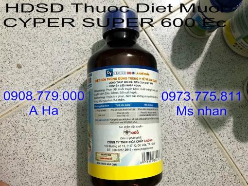 Thuoc Diet Muoi CYPER SUPER 600 Ec Dang 1 Lit